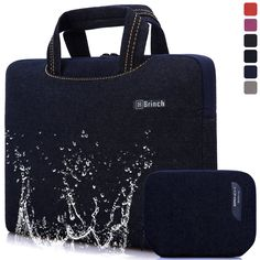 BRINCH [Cowboy Blue] Deluxe Universal Fabric Portable thin Light Durable Waterproof Anti-tear 14 - 14.4 inch Laptop Pouch Sleeve Case Bag / Carrying Handbag Briefcase / Laptop Messenger Bag, Utra Protective with Soft White Foam for All 14 - 14.4 inch Tablet / Ultrabook / Notebook Laptop Computers( Apple Macbook / Chromebook / Acer / Asus / Dell / Fujitsu / Lenovo / HP / Samsung / Sony / Toshiba),Fashion Design of Front Pocket,Two Back Pockets,Middle Main Pocket,With Handles and Accessory…