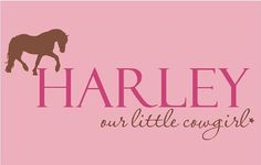 Cowgirl Horse PERSONALIZED Name 36x16 Vinyl by ALastingExpression, $29.95