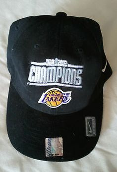 Los Angeles Lakers, LA Lakers NBA 2002 Champions Flexfit Hat - One Size Fits All Price: US $11.95
