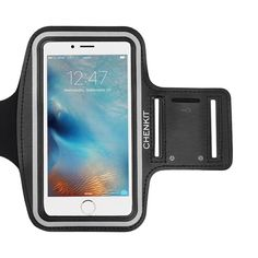 """iPhone 6/6S Plus Armband (5.5"""") , CHENKIT Sports Exercise Armband Gym Running Case Phone Holder for iPhone 6/6S Plus w/ key holder- Black. Designed specifically for iPhone 6 Plus / iPhone 6S Plus (5.5""""), Lightweight armband keeps your phone secure and protected. Functionality: Water Resistant and sweat-proof function to better protect your phone, make you feel more comfortable during exercise,Provide excellent protection during sport, such as running, biking, jogging, walking, working out..."""