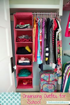 Sunny Side Up: Organizing outfits for school (our new system!)