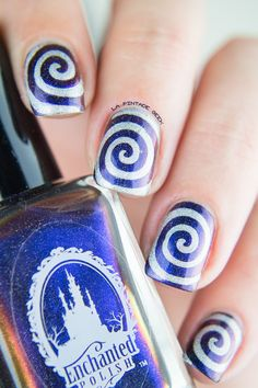 Swirl Nail art with My Kingdom For Glitters Stick Me! Nail Vinyls  www.mykingdomforglitters.com  #npa #nailart #nailvinyl #mkfg #mykingdomforglitters #enchantedpolish