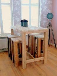 de Steigeraar :: Hoge tafel met krukken Modern, Furniture, Home Decor, Trendy Tree, Decoration Home, Room Decor, Home Furnishings, Home Interior Design, Home Decoration