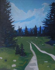 Hagerman Heights acrylic on canvas Landscape Paintings, Golf Courses, Mountains, Canvas, Amazing, Places, Travel, Artists, Tela