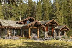 Truckee rustic log home floor plan