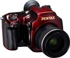 Color Borgoña - Burgundy!!! Pentax-645D-red-lacquer-limited-edition-camera #MACxNastyGal