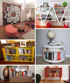 21 maneiras de usar os livros na decoração