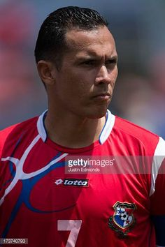 Blas Perez of Panama before taking on Canada in a CONCACAF Gold Cup match at Sports Authority Field at Mile High on July 14 2013 in Denver Colorado