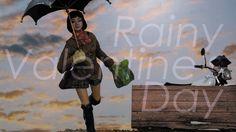 ジオラマ作品 「雨と彼女とオートバイと」 情景模型の世界