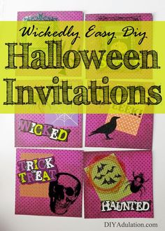 If you are looking to set your Halloween party apart from the others this year then these wickedly easy DIY Halloween invitations are perfect for you. #ad