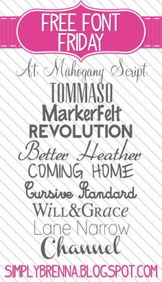 free font downloads