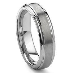 FashionBros 9mm Titanium Matt Rugged Finish Groove Pattern Wedding Band Ring for Men Or Ladies