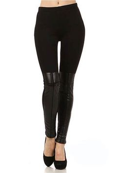 Faux Leather Boot Leggings