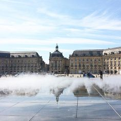 Bordeaux la belle ☀️ #bordeaux #bdx #bordeauxlabelle  #sun #summer #miroirdeau #placedelabourse #bourse #beautiful