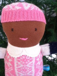 Little Snowflake Pink Wool Doll