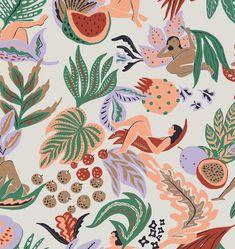 Hand drawn pattern for Sissy-Boy Homeland Print Design, Graphic Design, Sissy Boy, Freelance Illustrator, Homeland, Fashion Prints, Hand Drawn, Rooster, How To Draw Hands