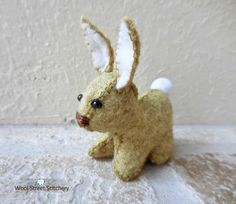 Stuffed bunny rabbit, handmade felt bunny, soft toy, Easter bunny, felt stuffed animal