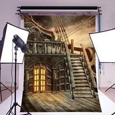 Mohoo 1.5×2.1m Pirate Ship Vinyl Photography Backdrop Studio Prop Background