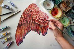 Phoenix Wings Print by jodyvanB on Etsy