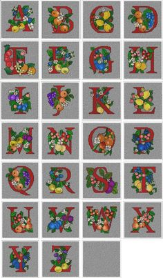 Advanced Embroidery Designs - Harvest Alphabet Quilt Block Set