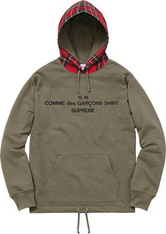 Supreme Comme des Garçons SHIRT®/Supreme  Hooded Sweatshirt Cotton french terry fleece/Wool