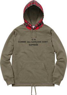 Supreme Comme des Garçons SHIRT®/Supreme  Hooded Sweatshirt Cotton french terry fleece/Wool