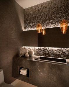 1000+ images about Tile work behind bathroom mirror on Pinterest Tile, Vanities and Mirror