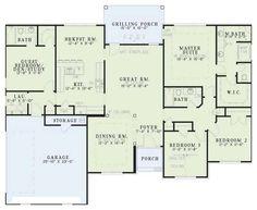 Traditional Plan: 2,022 Square Feet, 4 Bedrooms, 3 Bathrooms - 110-00369 Bungalow House Plans, Cottage House Plans, New House Plans, Modern House Plans, Small House Plans, House Floor Plans, Bedroom Window Design, Fireplace Suites, Craftsman Floor Plans