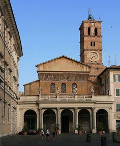 The Basilica of Santa Maria in Trastevere in Rome