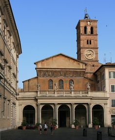 The Basilica of Santa Maria in Trastevere in Rome