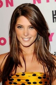 The Sleek Long Layered Hairstyle with Side Bangs for Long Brown Ombre Straight Hair
