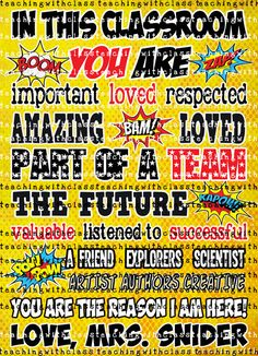 You are Superhero Classroom Poster by TeachingwithClass on Etsy
