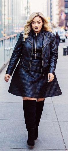 Trendy Fashion Style Plus Size Curvy Fashionista Boots Ideas Curvy Girl Fashion, Trendy Fashion, Winter Fashion, Plus Fashion, Fashion Trends, Fashion 2017, Street Fashion, Fashion Women, Fashion Ideas