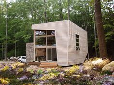Vacation in the Woods in Style with Archi-Tectonics' Pre-Fab Upstate Guest House   6sqft