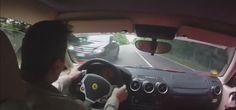 Ferrari Test Drive Almost Ends Up in a Crash