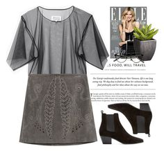 """- grey.black -"" by lolgenie ❤ liked on Polyvore featuring Agonist, Crate and Barrel, Maison Margiela, Zara and Yves Saint Laurent"