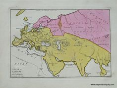"""State of Nations at the Christian Era - 1827-  Recent Discoveries."""" From the section : """"Atlas Classica; or Select Maps of Ancient Geography, both Sacred and Profane"""" 10.5 x 8.5 inches. Maker: Anthony Finley $100.00 http://www.mapsofantiquity.com/store/Antique_Maps_-_World/State_of_Nations_at_the_Christian_Era/inventory.pl?id=WOR024#.U6Xud_ldV8E"""