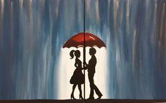 Rain Canvas Painting