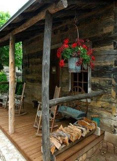 rustic country porch