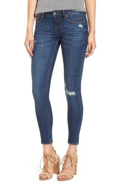 Vigoss 'Chelsea' Ripped & Repaired Skinny Jeans available at #Nordstrom