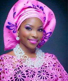 30 Nigeria Gele styles to try this Saturday - Ankara Lovers African Fashion Dresses, African Attire, African Dress, African Beauty, African Women, Afro, Nigerian Bride, African Head Wraps, African Jewelry