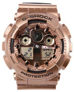 G-Shock by Casio - Rose Gold GA100 watch. A must have. Great for Father's day (ahem)