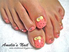 manacured+toe+nails | Gel overlay on toe nails