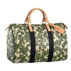 One of my handbag collection faves.... the Louis Vuitton Monogramouflage Speedy 35. Japanese Pop artist Takashi Murakami and Marc Jacobs reinvented the classic monogram canvas using a camouflage motif.