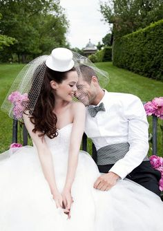 gorgeous veil with top hat -- LOVE