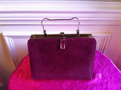 Vintage Mauve Purse with  handle in excellent by CreateItFun, $12.50