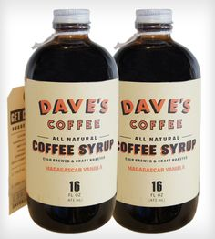 Vanilla Cold Brewed Coffee Syrup - 2 Pack | Experience the full spectrum of flavor in coffee beans with tw... | Coffee