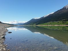 Lago di Resia – Reschensee, Zuid-Tirol, Süd-Tirol, Italië, Italy, Italia