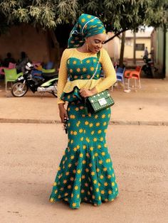 presents current fashion trends of 30 latest ankara skirt and blouse styles for Ladies! To get the best out of African fashion styles, you need p. Ankara Skirt And Blouse, African Maxi Dresses, African Fashion Ankara, Latest African Fashion Dresses, African Dresses For Women, African Print Fashion, African Attire, Ankara Gowns, Ankara Long Gown Styles