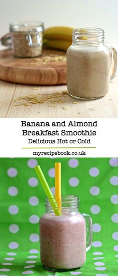 A quick, healthy, filling breakfast smoothie – ideal for the morning rush. Can be served warm or cold, so perfect in any weather.